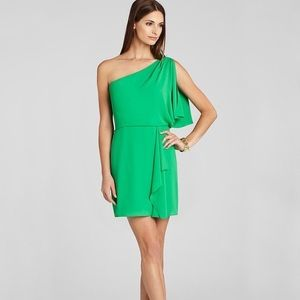 BCBG one shoulder cocktail dress